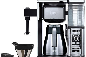 How to clean a ninja coffee bar with vinegar or descaling solution