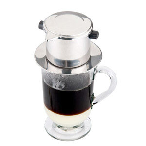 How to use veitnamese coffee maker with phin coffee filter